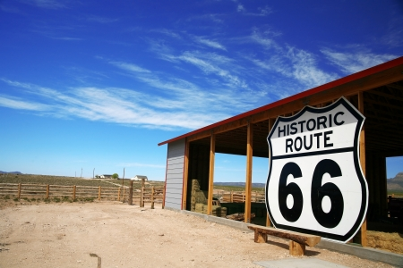 rout: Historic rout 66 site, Arizona, USA