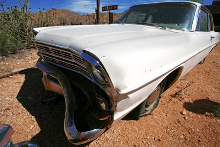 classic antique american cars in desert