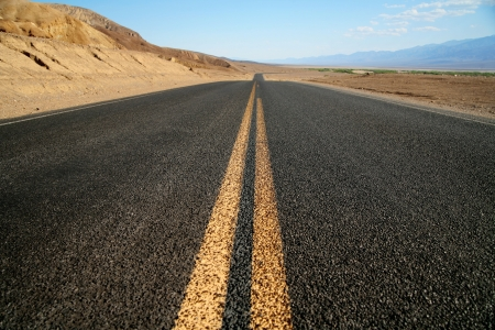 hihway in Desert,  National Park Death Valley, California, USA photo