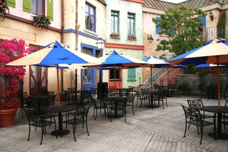outdoor cafe: classic european street cafe