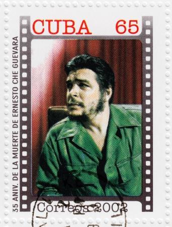 CUBA - CIRCA 2002   stamp printed in Cuba, anniversary of the death of Che Guevara in Bolivia, Circa 2002