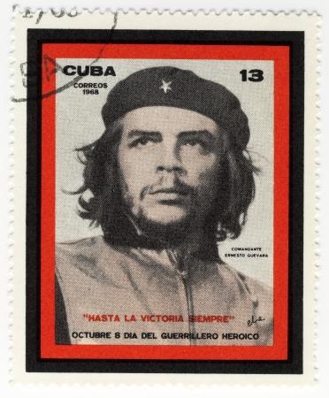 vintage cuba stamp with Ernesto Che Guevara