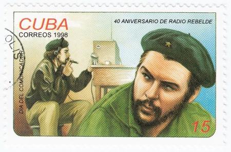 castro: vintage cuba stamp with Ernesto Che Guevara Editorial