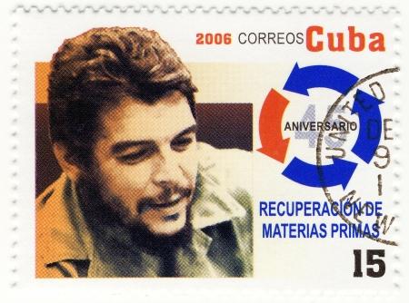 guerrilla: CUBA - CIRCA 2006   stamp printed in Cuba with portrait of Che Guevara - legendary guerrilla, circa 2006
