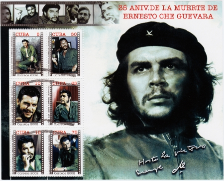 CUBA - CIRCA 2002   Stamp printed in Cuba with Che Guevara, circa 2002 Stock Photo - 15767981