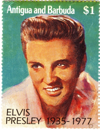 1977 year stamp with Elvis Presley Stock Photo - 15768107