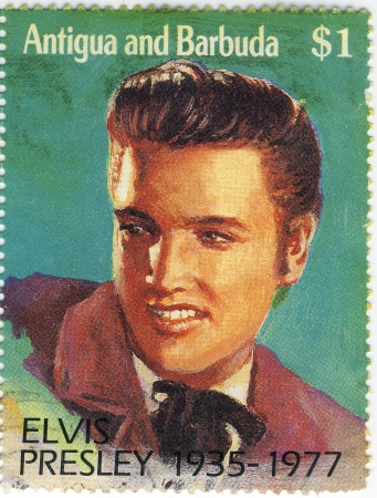 1977 year stamp with Elvis Presley Stock Photo - 15768014