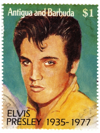 1977 year stamp with Elvis Presley Stock Photo - 15768097