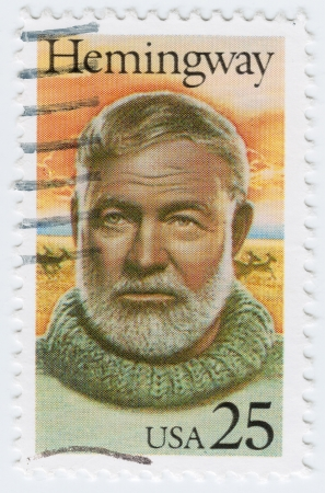 ernest: USA - CIRCA 1994   stamp printed in USA with Ernest Hemingway American writer, circa 1994 Editorial