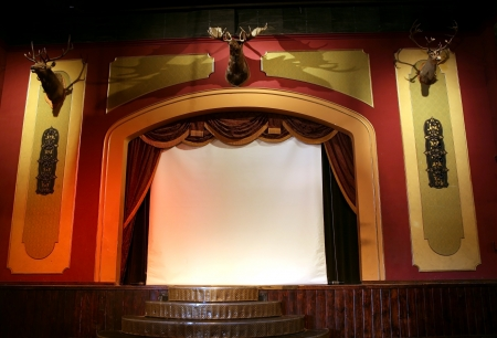 retro elegant theater with deers