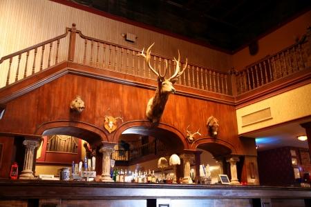 barstools: A stylish night bar with retro decor