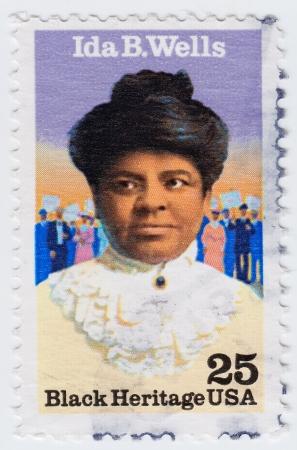 ida: USA - CIRCA 1971   stamp printed in USA show Ida Bell Wells-Barnett African American journalist, newspaper editor, circa 1971