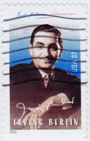 USA - CIRCA 2002  stamp printed in USA shows Irving Berlin American composer and lyricist, circa 2002 Stock Photo - 15768016