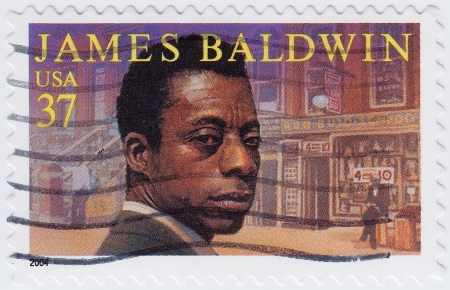 novelist: USA - CIRCA 2004   stamp printed in USA show shows James Arthur Baldwin was an American novelist, writer, playwright, poet, circa 2004