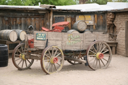 west usa: Antique american cart
