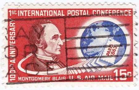 montgomery: USA - CIRCA 1963   stamp printed in USA shows Montgomery Blair, circa 1963 Editorial