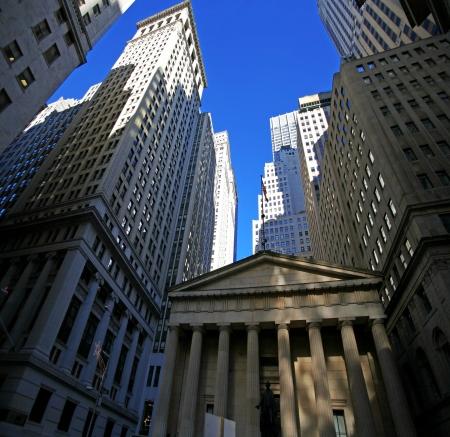 brokerage: classical New York - Wall street,  skyscrapers in Manhattan
