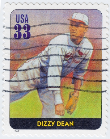 USA - CIRCA 2000: stamp printed in the USA shows Dizzy Dean American professional baseball player, circa 2000