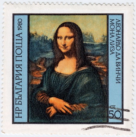 mona lisa: BULGARIA - CIRCA 1980   Stamp printed in Bulgaria show Leonardo Da Vinci