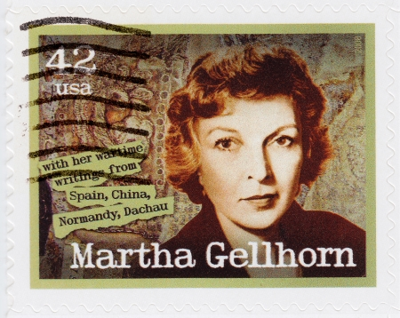 novelist: USA - CIRCA 2008: stamp printed in the USA shows Martha Gellhorn American novelist, travel writer and journalist, circa 2008 Editorial