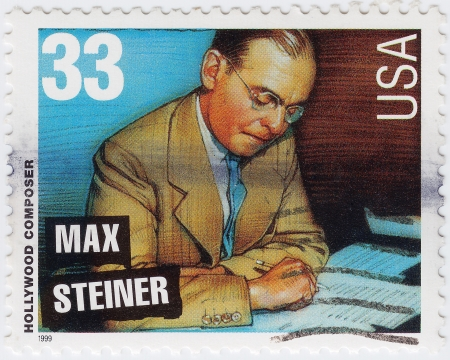 max: USA - CIRCA 1999 : stamp printed in USA show Max Steiner American hollywood composer, circa 1999 Editorial