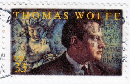 novelist: USA - CIRCA 2000 : stamp printed in USA show American novelist Thomas Wolfe, circa 2000