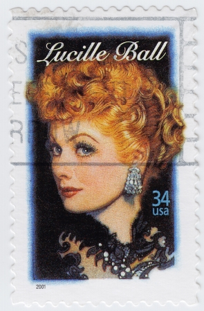 USA - CIRCA 1997   stamp printed in USA show American film, television, stage and radio actress Lucille Ball, circa 1997 Stock Photo - 15792610