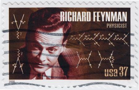 richard: USA - CIRCA 2005   stamp printed in the USA shows Richard Feynman is an great physicist, circa 2005