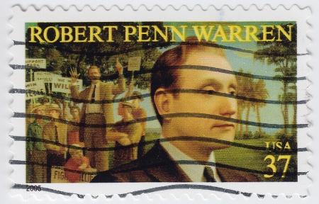 novelist: USA - CIRCA 2005   stamp printed in USA show shows Robert Penn Warren American poet, novelist, circa 2005 Editorial