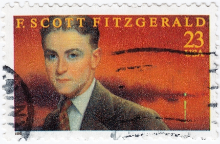 scott: USA - CIRCA 1996   stamp printed in USA show shows F  Scott Fitzgerald American author of novels and short stories, circa 1996
