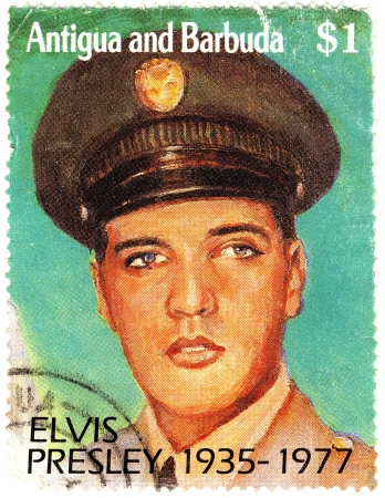 stamp with Elvis Presley