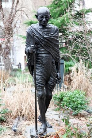 mahatma: monument of Mahatma Gandhi in NY