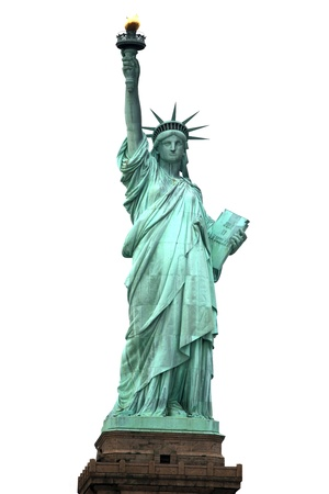 miss: NY Statue of Liberty isolated on white