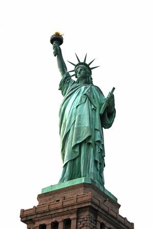 ny: NY Statue of Liberty isolated on white