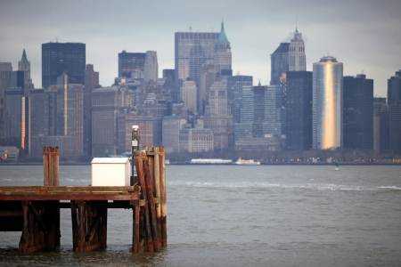 classical NY - view to Manhattan from Liberty Island