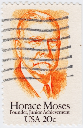 horace: USA - CIRCA 1984: stamp printed in USA shows Horace Moses, circa 1984