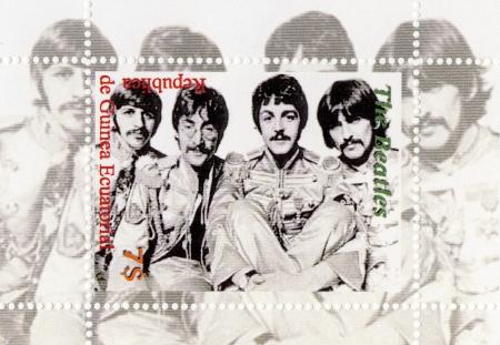 Guinea - CIRCA 1996: The Beatles  - 1960s famous musical pop group