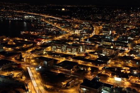 nighttime in Seattle photo