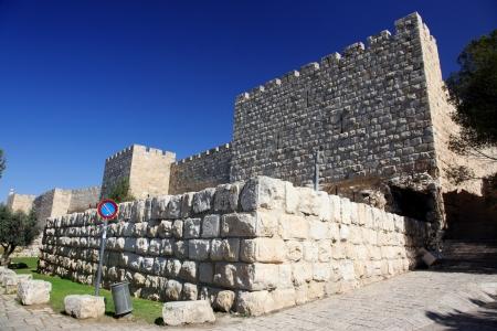 lamentation: Gerusalemme mura della citt� vecchia nei pressi di Porta di Sion