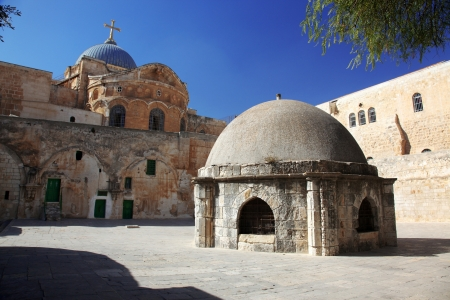 Classic Israel - Dome on the Church of the Holy Sepulchre in Jerusalem photo