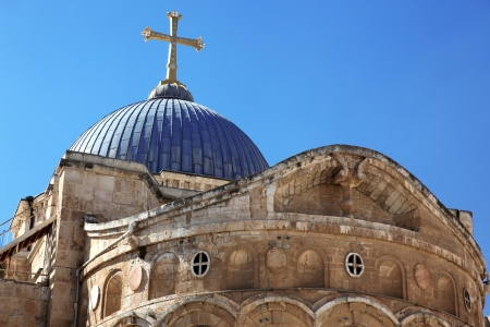 Dome on the Church of the Holy Sepulchre in Jerusalem, Israel Stock Photo