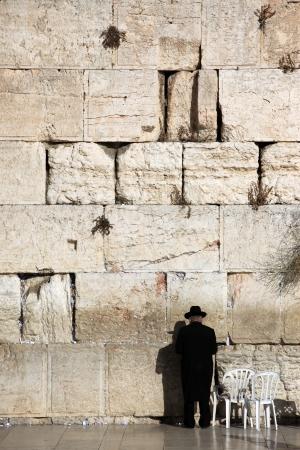 Jewish praying at the wailing wall, Western Wall, Kotel photo