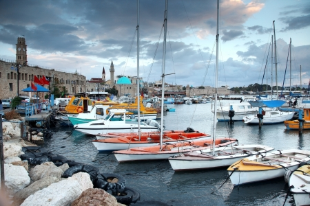 acre: Classic Israel - old town and port in Acre also Akko in Western Galilee