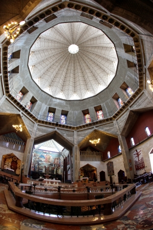 Classic Israel - Dome and Basilica of the Annunciation church in Nazareth  Stock Photo - 15837499