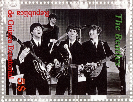 REPUBLIC GUINEA ECUTORIAL � CIRCA 2003 : The Beatles  - 1980s famous musical pop group.