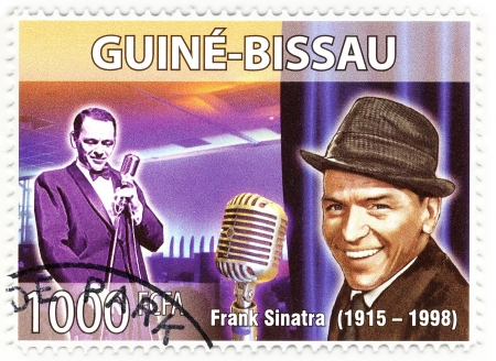 frank: stamp with famous singer Frank Sinatra