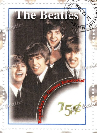 stamp with famous group The Beatles Stock Photo - 15837486