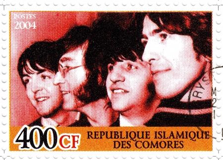 comores: REPUBLIC COMORES � CIRCA 2004 : The Beatles  - 1960s famous musical pop group