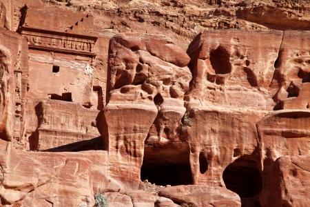 caved: Petra - Nabataeans capital city   Al Khazneh   Jordan Stock Photo