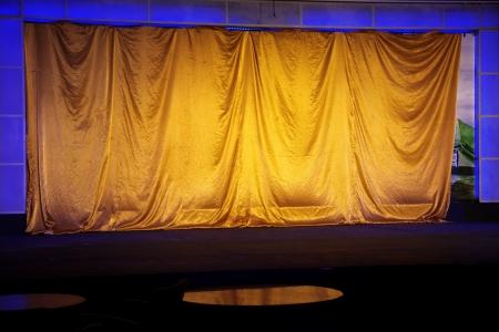 archiitecture: yellow elegant theater  Stock Photo